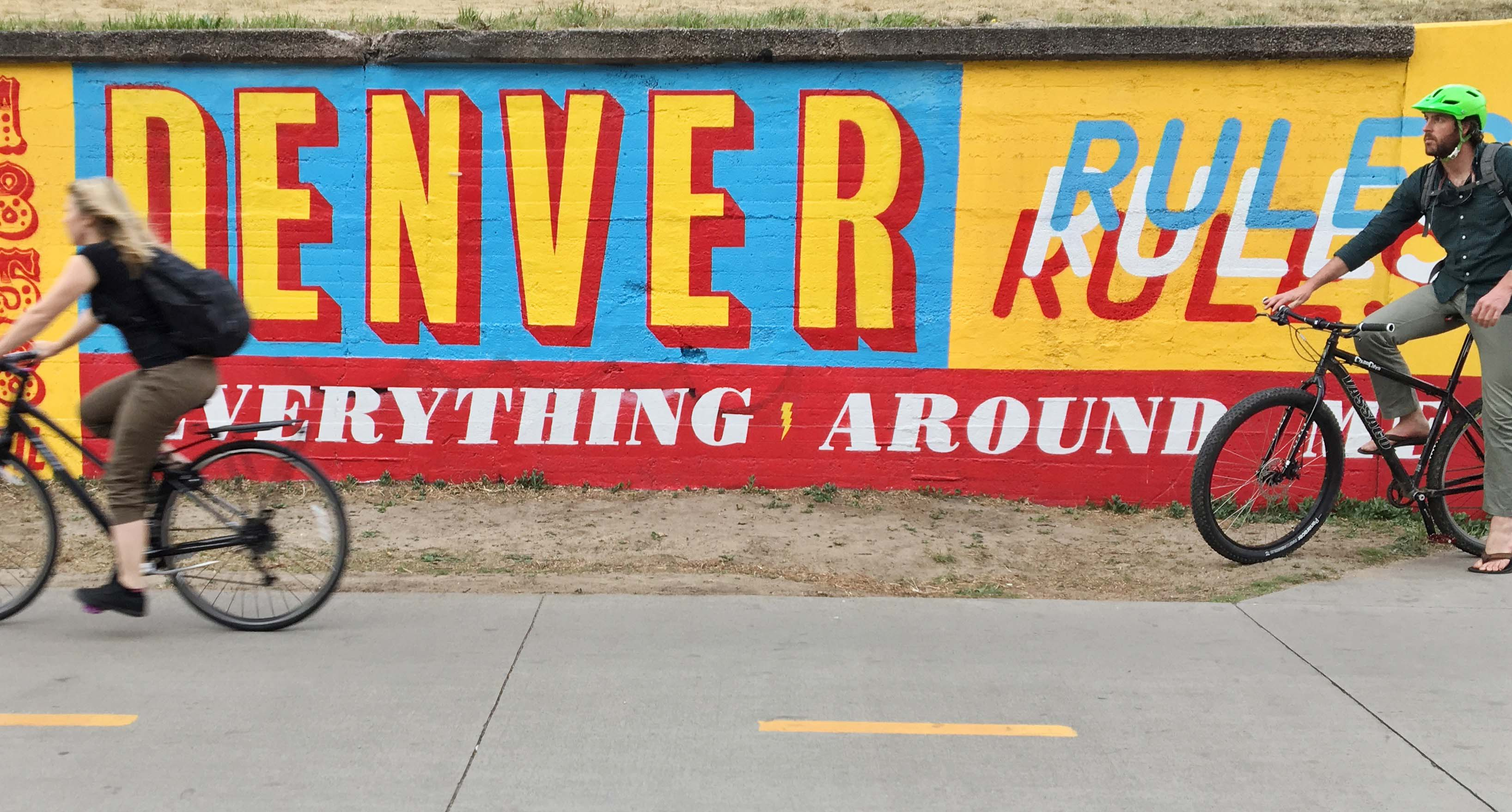 Denver Graphic Design Mural by Nigel Penhale