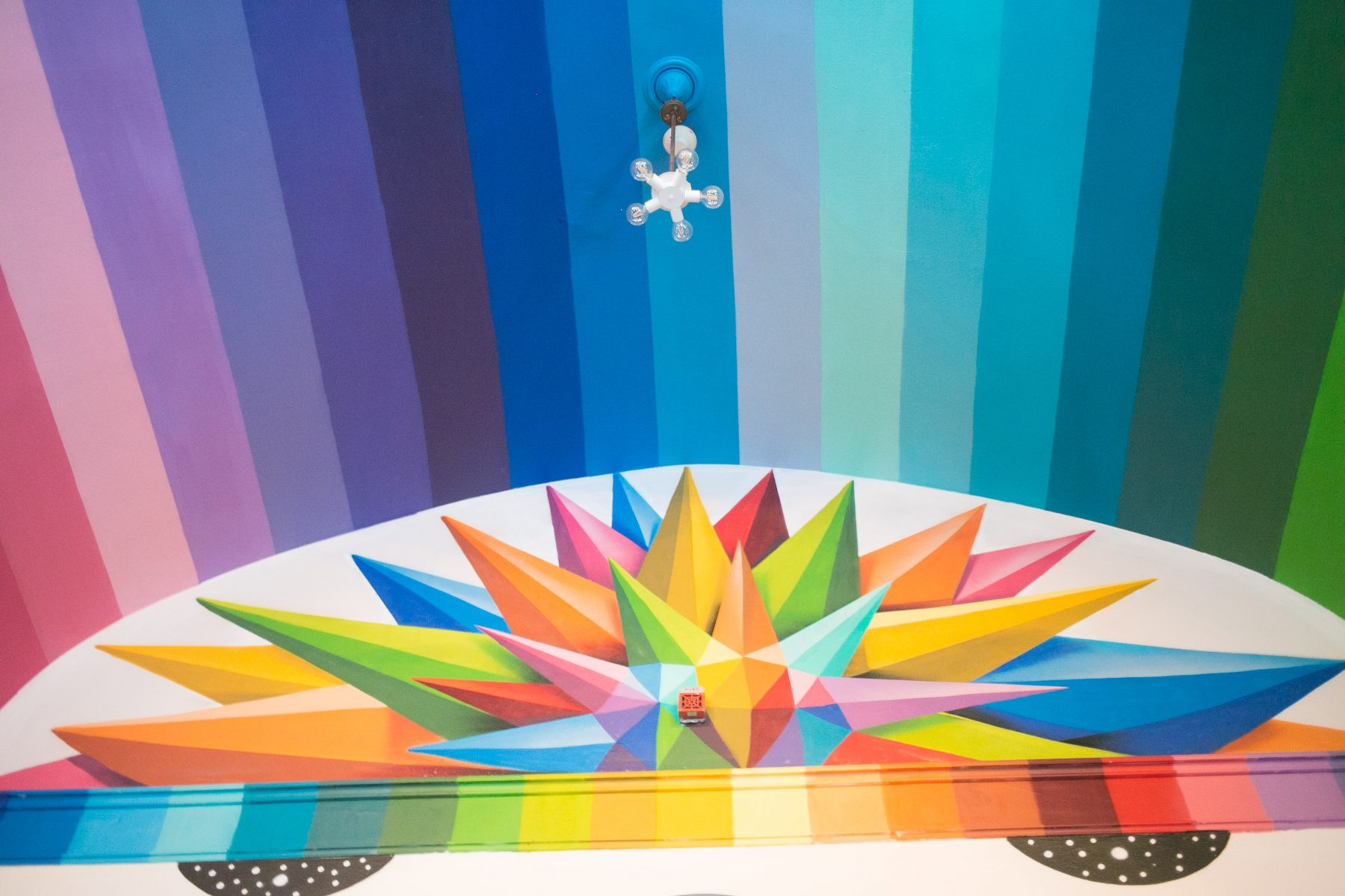 Okuda's Divinitory International Church of Cannabis mural