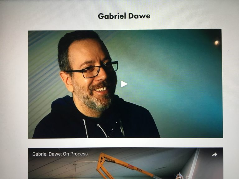 A Portrait of Gabriel Dawe as he appears on a Denver Art Museum tablet.