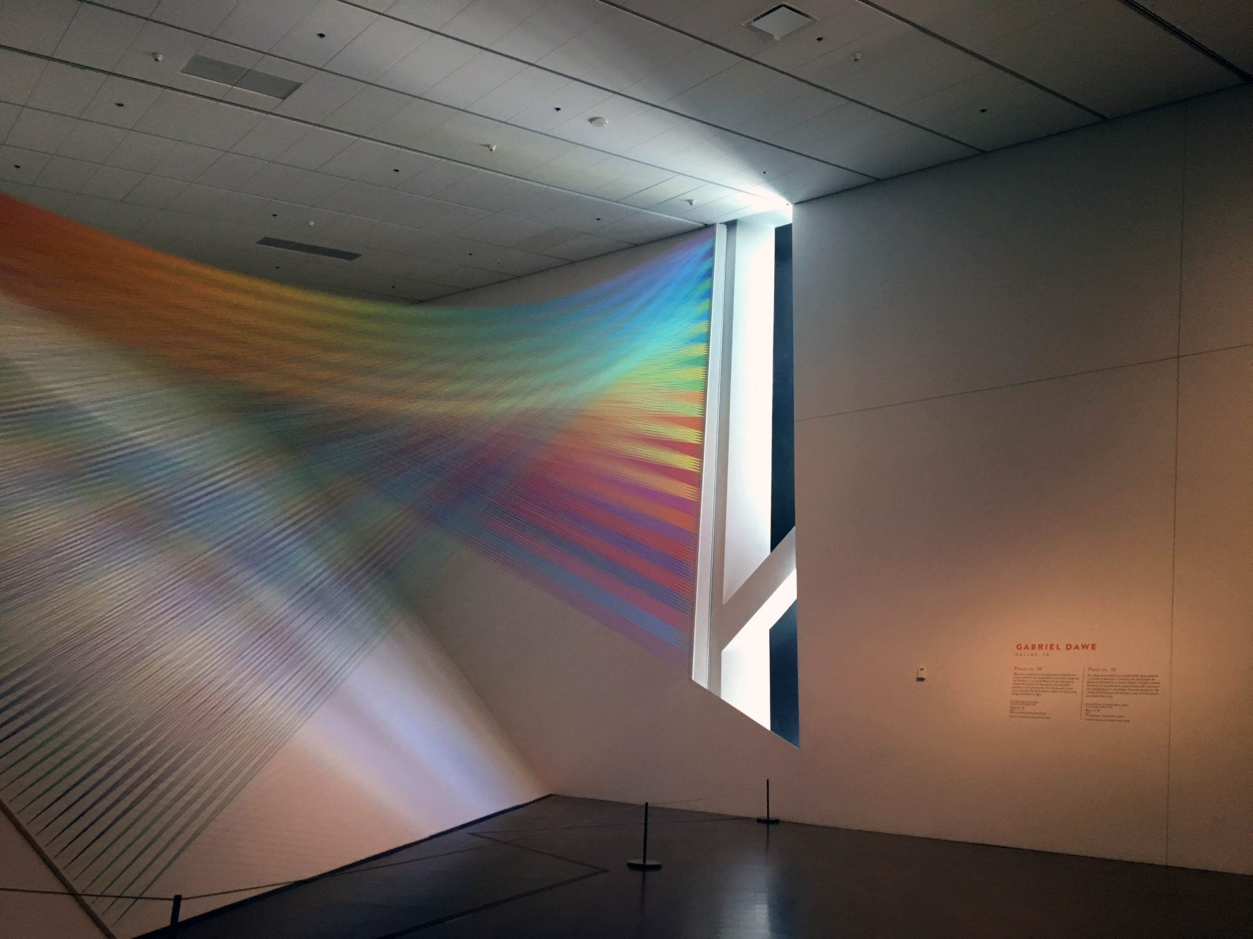 Plexus 36 by Gabriel Dawe at the Denver Art Museum for Mi Tierra